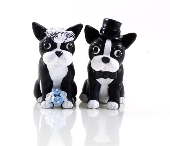 Boston Terrier Wedding Cake Toppers by Karly West, via Flickr