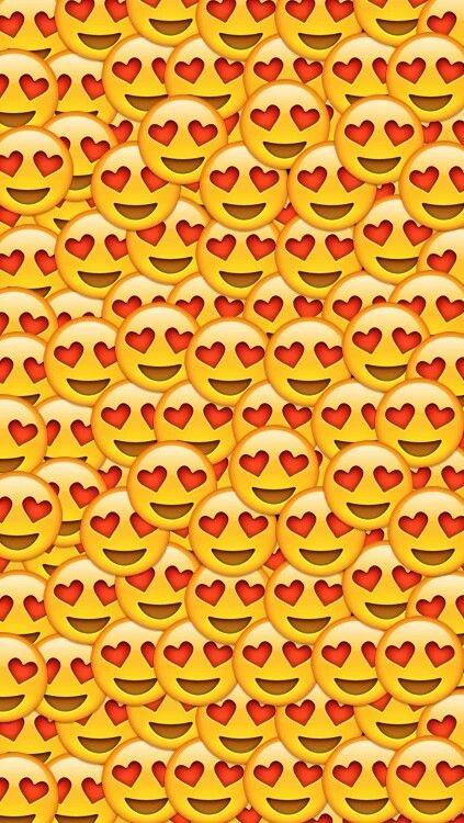 Background emoji love