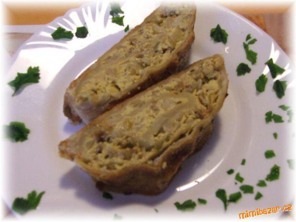 Slaný cibulový závin skvělá večeře nebo chuťovka pro návštěvy