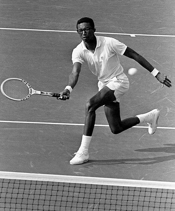 Arthur Ashe Jr never for get his name or what his achievement have done for so many color has nothing to do with he was great athlete and a wonderful inspiration.