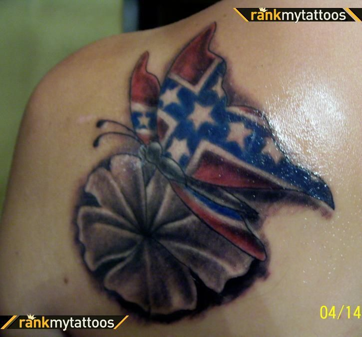 florida confederate flag tattoos more confederate flag flag tattoos ...