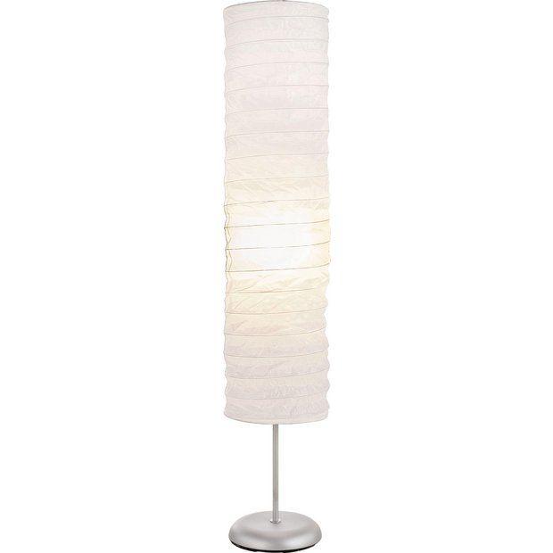 Buy HOME Tube Paper Floor Lamp - White at Argos.co.uk - Your Online Shop for Floor lamps, Lighting, Home and garden.