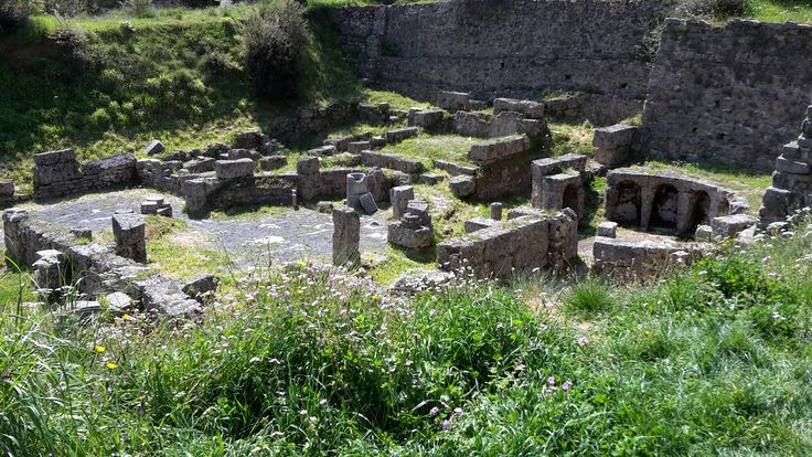 The ancient city of Gortys was situated in the gorge of Lousios in the area of Arcadia!