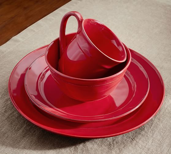 NO BUT REALLY I WANT THESE   Cambria Dinnerware - Red | Pottery Barn