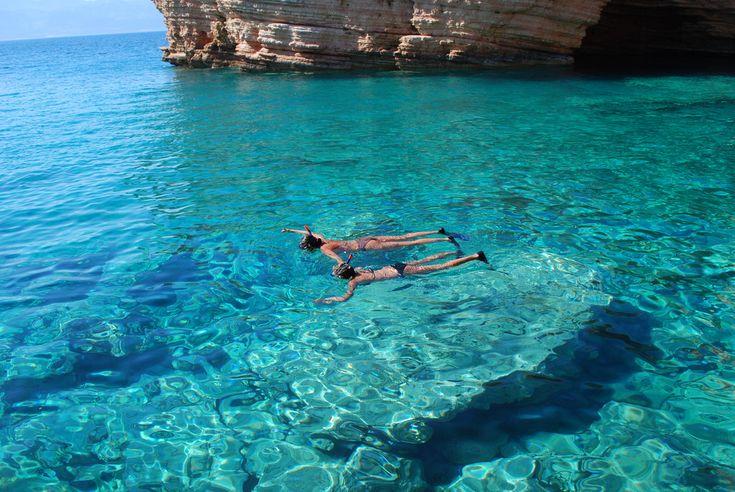 Snorkeling in Koufonissi, Greece