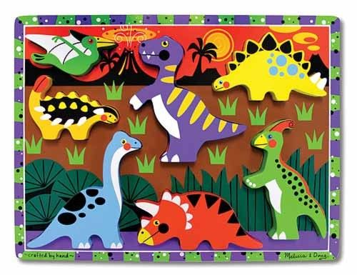 Melissa & Doug - Puzzle Chunky Dinosaurs - ROAR! Bright, chunky puzzles are a new favourite for C...this one from Melissa & Doug would be great to add to his growing collection! - #EntropyWishList #PintoWin