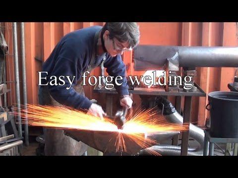 Blacksmithing Technique - Easy forge welding - YouTube