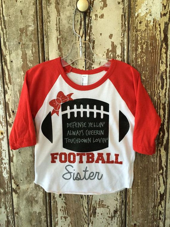 Hey, I found this really awesome Etsy listing at https://www.etsy.com/listing/233248143/football-sister