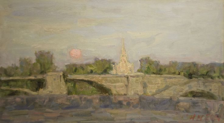 "Malanenkov Yuriy  ""Embankment Of The Moscow"" Oil on canvas 50х90 cm 2014."