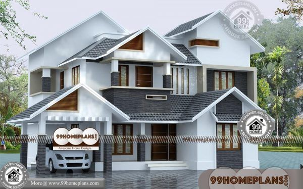Front Design Of House In Indian Double Story Best New Style Bungalows House Front Design Kerala House Design Small House Front Design