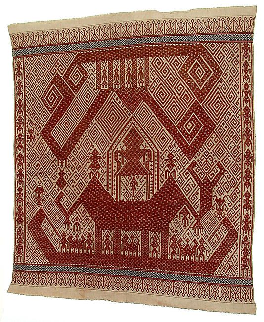 Ceremonial Textile (Tampan) Date: 19th–early 20th century Geography: Indonesia, Sumatra, Lampung province Culture: Lampung
