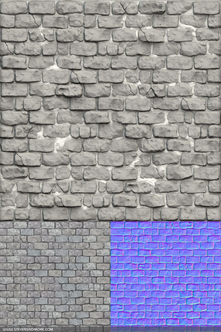 Unfinished brick wall texture for creating environment texture maps - Steven Skidmore Environment Artist Tiling Textures