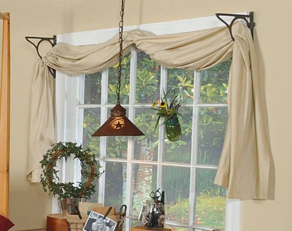 Best 25 swag curtains ideas on pinterest curtains with for Simple window treatments for large windows