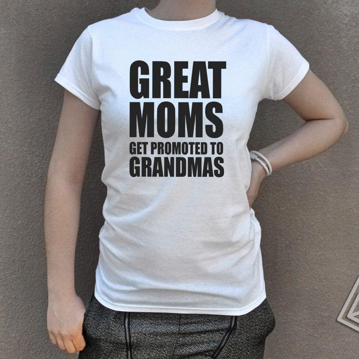 Grandma tshirt Best Moms Get Promoted to Grandma Mother's Day Gift GrandmA  Birthday Funny grandma T