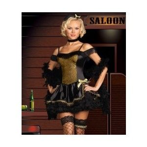 Goldie Rush Costume, Wild West Sexy Saloon Girl Costumes & F ...
