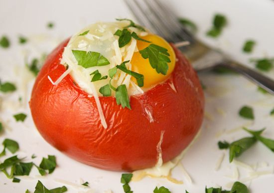 breakfast tomato: Couscous Recipes, Cottage Cheese, Thoughts Meat, Stuffed Breakfast, Baked Tomatoes, Egg, Stuffing Thoughts, Stuffed Tomatoes