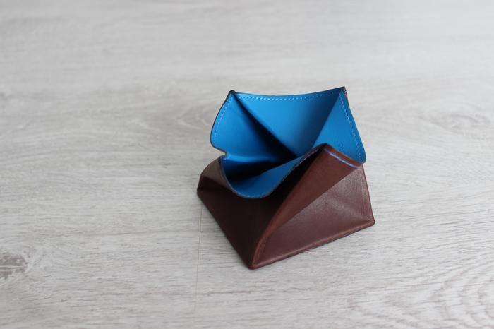 Porte-monnaie Hurbane en cuir bleu