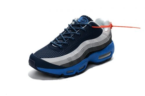new styles cbfdb 4ec3d Real Nike Air Max 95 ID Kup MENS SHOES white grey blue Nike Air Max 95