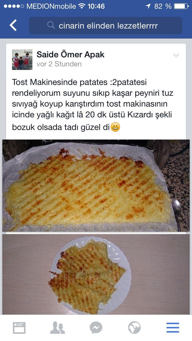 Tost makinesinde patates