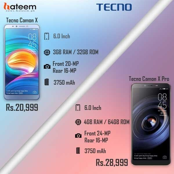 CAMON X and CAMON X Pro From TECNO is in Pakistan: Check Out