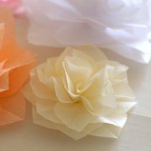 selyempapír virág, tissue paper flower