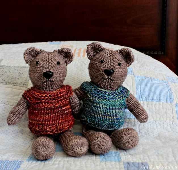 Nearly No-Seams Knit Teddy 3 or 3.25 mm, 4 or 3.5 mm, Circular Knitting Needles Yarn Weight: (4) Medium Weight/Worsted Weight