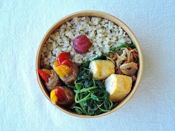 10/7(水)パプリカ肉巻き弁当 : おひとりさまの食卓