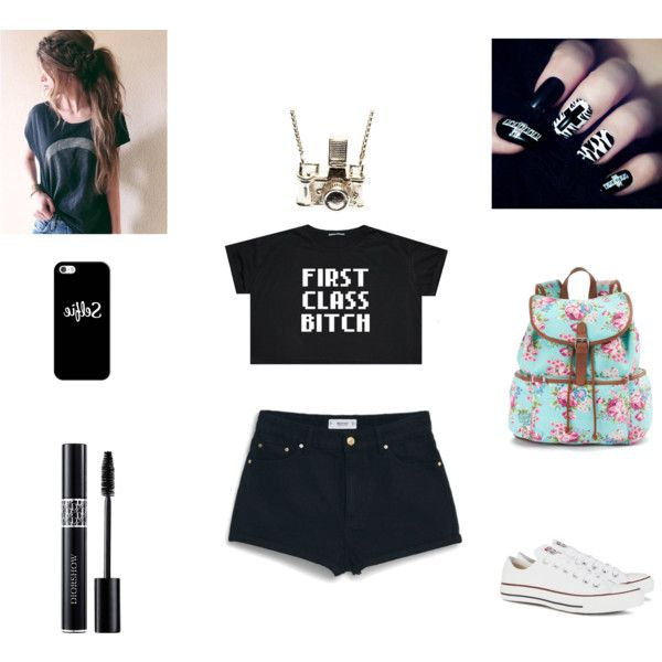 Skater Girl #sortof by nina-macaroons on Polyvore featuring polyvore, fashion, style, MANGO, Converse, Candie's, Kiel Mead Studio, Casetify and Christian Dior