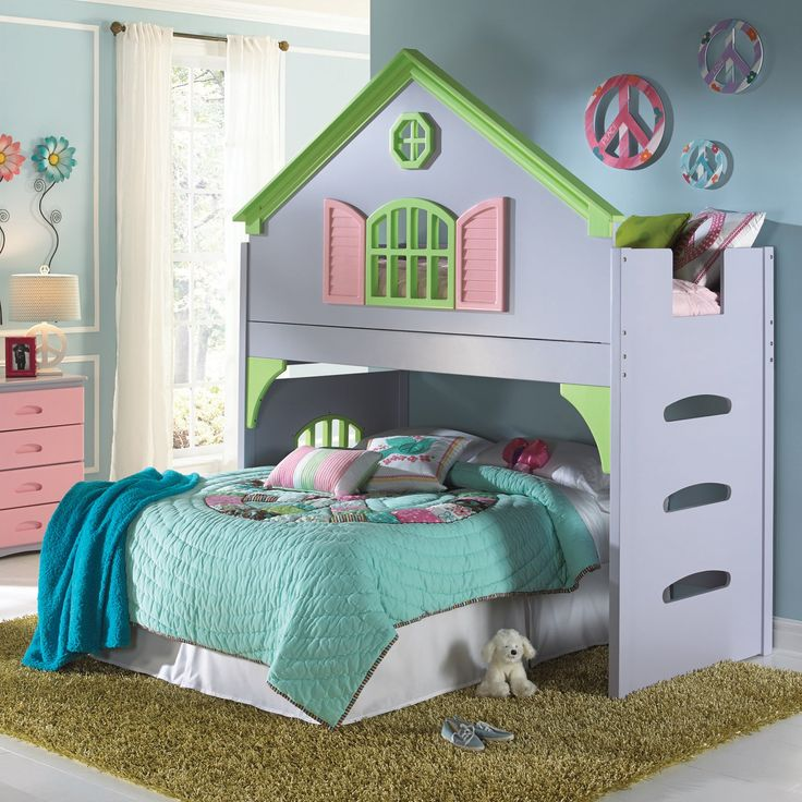 Too cute!!  Donco Kids Doll House Loft | from hayneedle.com
