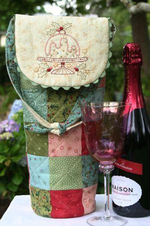 Porta botellas en patchwork, un regalo perfecto para esta Navidad!