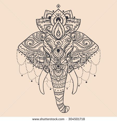 elephant tattoos, elephants and indian elephant on pinterest Indian Elephant Art Tattoo
