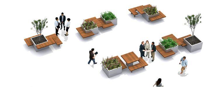 serie meubilair voor professionele groene buitenruimtes