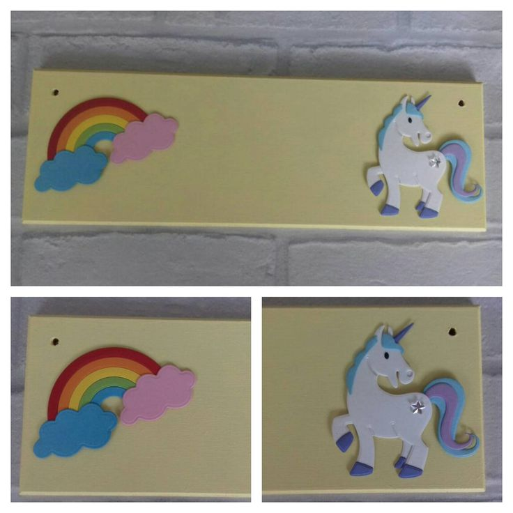 Unicorn Pony Rainbow Girls Name plaque Name sign. Any Colours Any Name/Names. Rainbow Baby Girls bedroom decor Fairytale themed Nursery Room by FairylandDecor on Etsy
