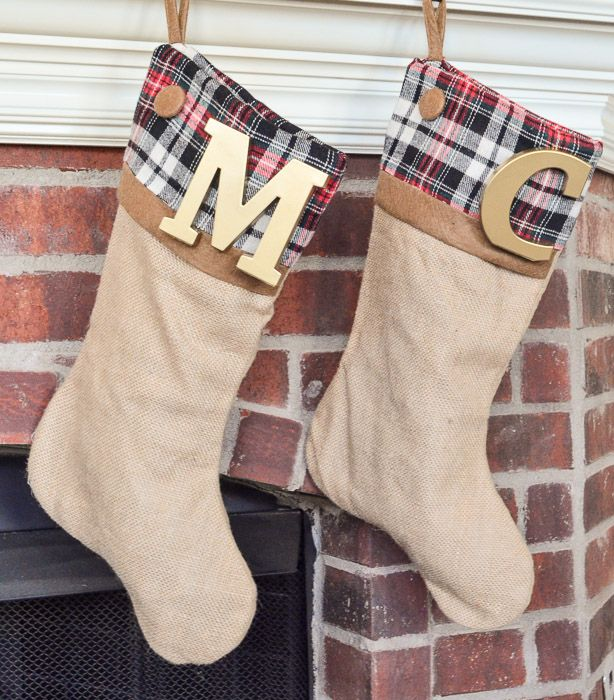 These DIY Burlap Stockings have a secret - they were made in 5 minutes!