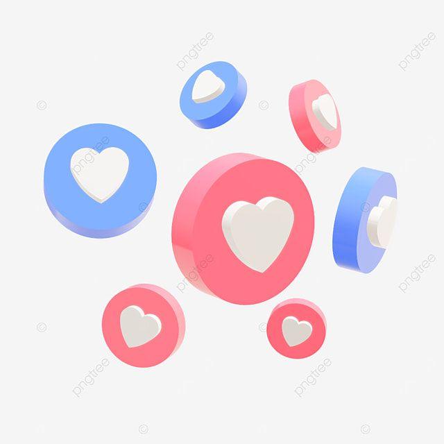 Diseno 3d Del Boton De Amor O Me Gusta De Las Redes Sociales Con Colores Azul Y Rojo 3d Diseno Redes Sociales Png Y Vector Para Descargar Gratis Pngtree En 2021