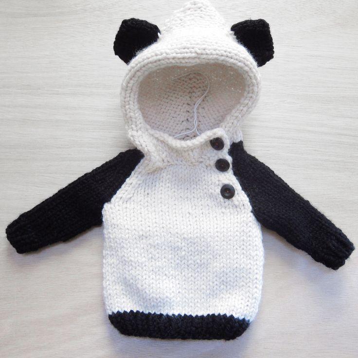 Tablero Inspirador http://www.pinterest.com/traceynic/knit-%2B-purl/  panda sweater by Camp & Company Knittery