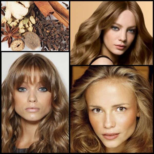 Warm spice blonde Formulas: (on starting level 7)  1. Goldwell Colorance 2 part 7BG + 1 part 7NA with Colorance Lotion  2. Goldwell Topchic 2 parts 7BN + 1 part 7SB with 20 Volume  3. Goldwell Topchic 2 parts 7SB + 1 Part 7B with 20 Volume  4. Goldwell Colorance 2 parts 7NA + 1 part 7B with Colorance Acid Lotion Formulas 1 and 2 lean toward the warm side of the spectrum while 3 and 4 have a cooler reflection.