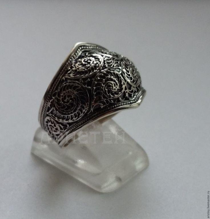 """Купить Кольцо """"Узоры"""" - серебряный, узоры, зимние украшения, серебро 925 пробы…"""