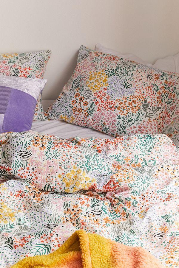 Meadow Floral Duvet Cover Set Floral Duvet Cover Colorful Duvet Covers Floral Duvet