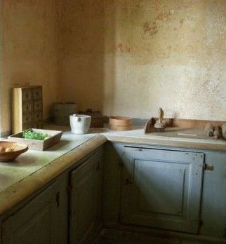Svindersvik, Stockholm, Sweden-traditional swedish kitchen, rustic. old walls