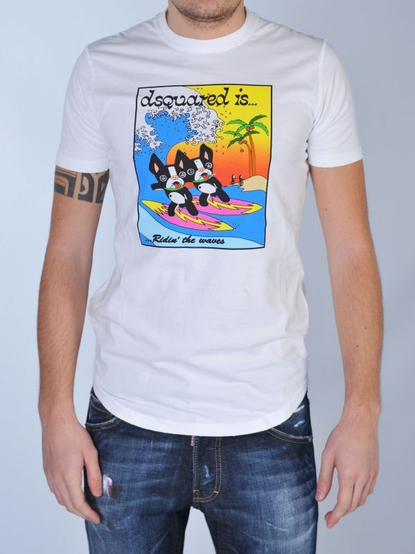 T-shirt bianca con stampa http://www.dipierrobrandstore.it/product/1591/T-shirt-bianca-con-stampa.html