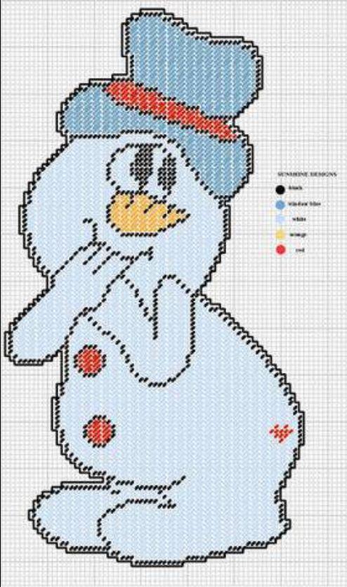 811 Best Images About Plastic Canvas Snowman On Pinterest
