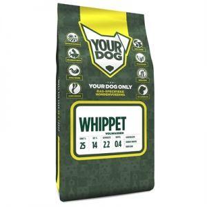 Yourdog Whippet Volwassen 3 kg  Description: Yourdog Whippet voeding Yourdog Whippet hondenvoer is gemaakt van natuurlijke ingredienten zoals buffel en gevogelte (eend kip en kalkoen). Voor het maken van een 12 KG Yourdog Whippet hondenvoer wordt 106 KG vlees ingedroogd. Zo kan dit worden verwerkt in het Yourdog hondenvoer. Wij maken gebruik van hoge kwaliteit eiwitten die ten goede komen van de hond. Onder andere het lamsvet en de zalmolie zorgen voor een volle glanzende vacht. Ook bevat…