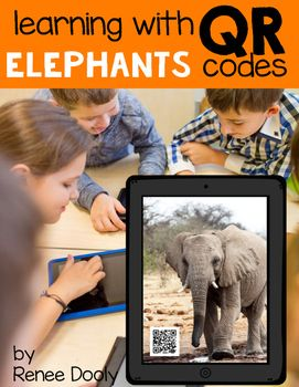 QR codes attached to informational elephant videos for kids