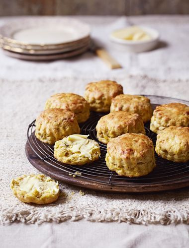 Roast Pumpkin Scones from The Great British Bake Off Winter Cookbook. Enjoy for breakfast or serve with soup.