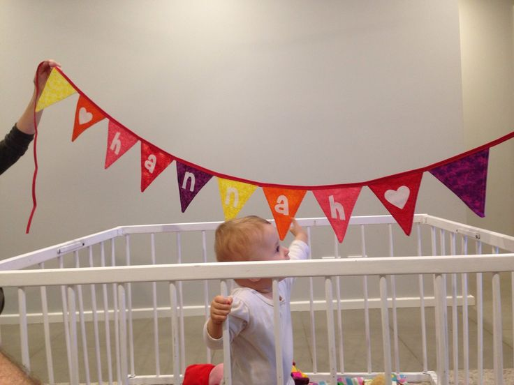 Name Bunting for Hannah's 1st Birthday Present Finished 13May2017