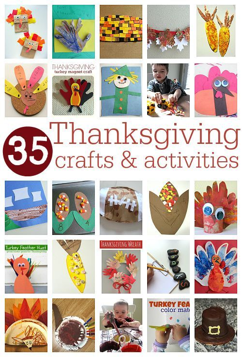 Thanksgiving crafts for kids. 35 fantastic thanksgiving activities for preschool. Fun stuff for kids from No Time For Flash Cards