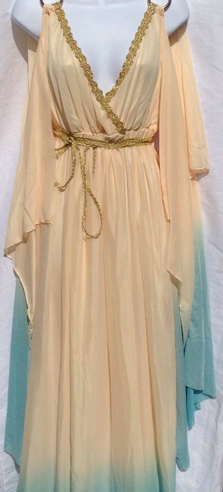 Women's Cleopatra Halloween Costume Dress Spencer Gifts Greek Goddess Large 12 #SpencerGifts #Dress