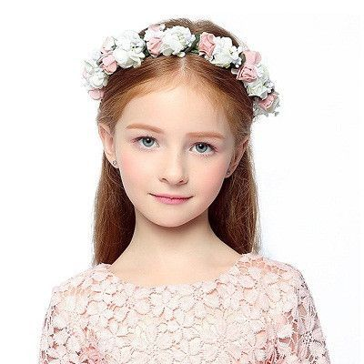 Girls Handmade rose floral crown rose headband Girls hair garland festival wedding hair accessories Chaildren Hairbands