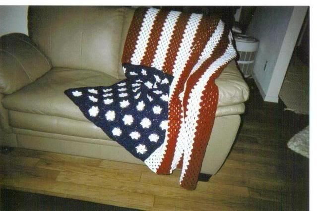 Crochet American Flag Afghan. My cards, etc. Pinterest ...